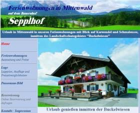 Beispiel Webdesign Sepplhof
